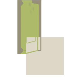 Nyílóajtó megoldású beépített szekrény